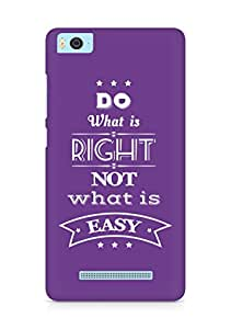 Amez Do what is Right Not what is Easy Back Cover For Xiaomi Mi5