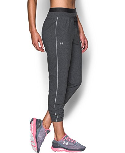 Under Armour Women's Favorite Slim Leg Jogger Pant, Carbon Heather (090), X-Small