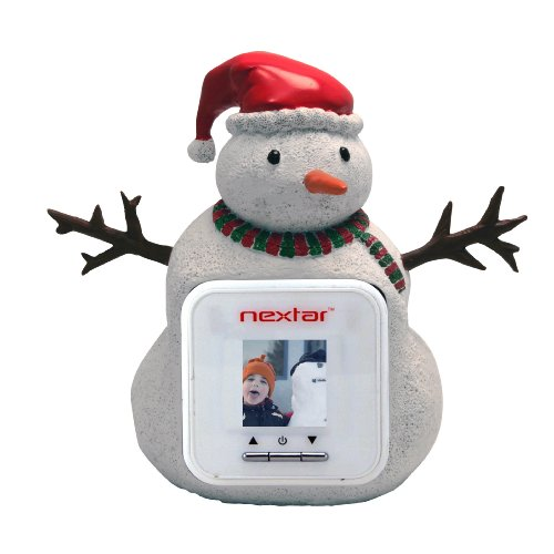 Nextar RPF-1503 1.5-Inch Digital Photo Frame Figurine (Snowman, White)