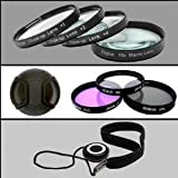 Professional Filter Kit for Canon EOS Rebel T1i Digital Camera with 18-55mm & 55-200 Telephoto Zoom Lenses