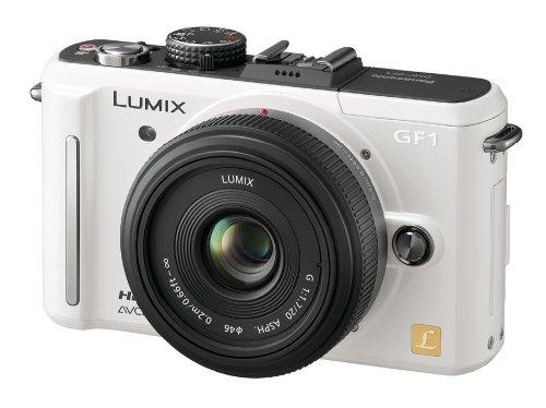 Panasonic デジタル一眼カメラ GF1 レンズキット(20mm/F1.7パンケーキレンズ付属) シェルホワイト DMC-GF1C-W