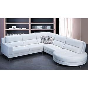 Amazon Tosh Furniture Trieste White Leather