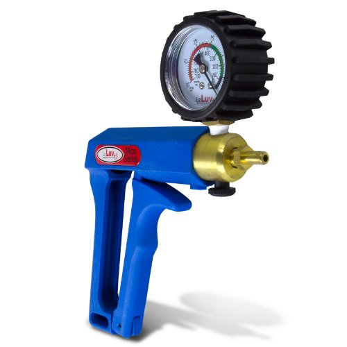 41yqk4kTKlL. SL500  Eyro MAXI Blue Pistol Grip Brass Vacuum Pump with Gauge  &  Soft Cover