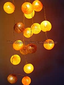 Autumn Leaves Cotton Ball Fairy Light String