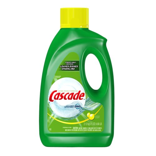 Cascade Gel Dishwasher Detergent, Lemon Scent, 75-Ounce (Pack of 2) (Dishwasher Soap Liquid Cascade compare prices)