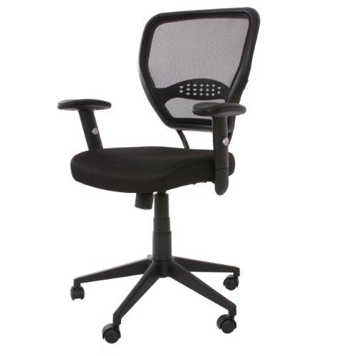 Profi-Bürostuhl Seattle Chefsessel Drehstuhl, 150kg belastbar, schwarz