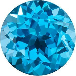 AfricaGems - Round Shape Swiss Blue Topaz Natural