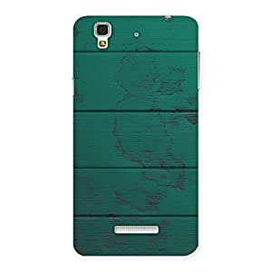 Green Wood Texture Print Back Case Cover for YU Yureka Plus
