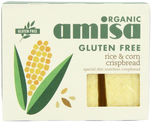 Amisa Organic Crispbread Rice and Corn 150 g (Pack of 6)