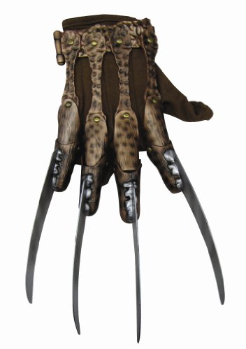Nightmare On Elm Street Deluxe Freddy Krueger Glove, Gray, One Size