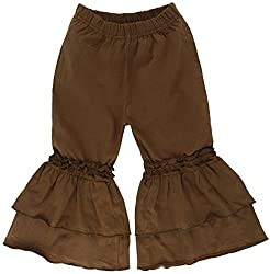 Oye Girls Plazoo Pant with Frill - Toffee (12-18M)