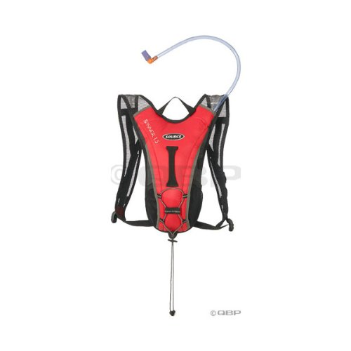 Source Spinner Hydration Pack: 1.5 liter; Red/Gray