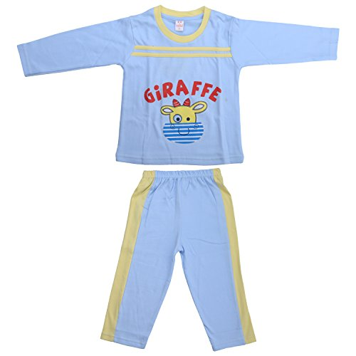kandyfloss Kandy Floss Blue Cartoon Printed Prewinter Payjama Set
