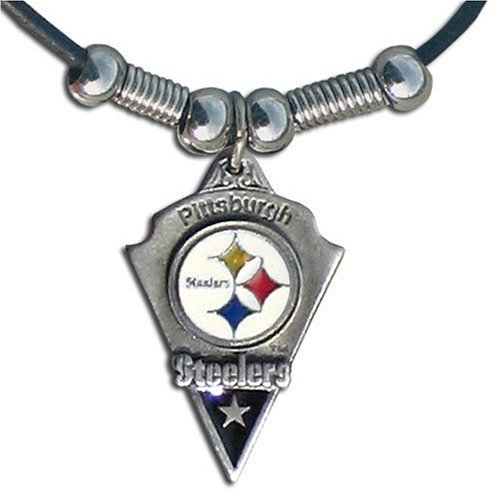 NFL Pittsburgh Steelers Leather Cord Necklace at SteelerMania