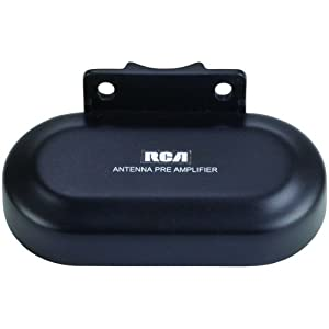 RCA TVPRAMP1R Preamplifier for Outdoor Antenna Performance Enhancement & Extension (use with ANT3038XR & ANT3036XR), Black