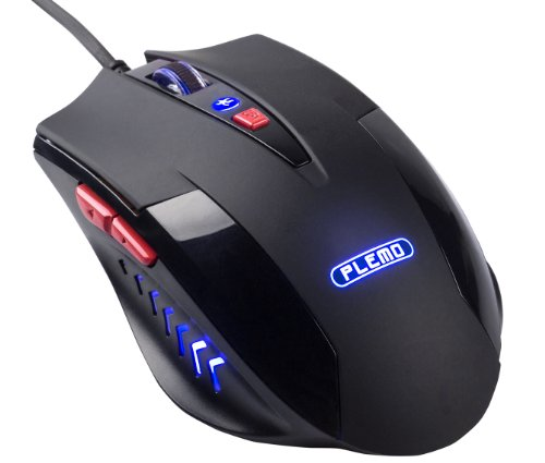 Plemo Black Mamba 6-Button Pc Computer Optical Usb Wired Gaming Mouse, 3 Adjustable Dpi Levels Up To 2400 [Model Number: Ds-901]