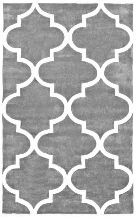 nuLOOM ACR129A-83011 Cine Collection Contemporary Fez Hand Made Trellis Area Rug, 8-Feet 3-Inch by 11-Feet, Slate