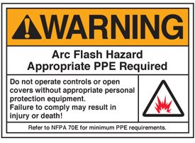 Arc flash labels warning arc flash hazard appropriate for How to read arc flash labels