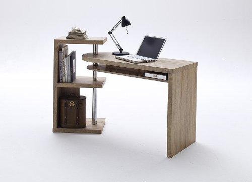 Dreams4Home-Schreibtisch-Jane-Eiche-sgerau-MDF-Brotisch-PC-Tisch-Sekretr