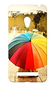 Unicraft Back Cover for Asus Zenfone 5 (3D Printed Multicolor)