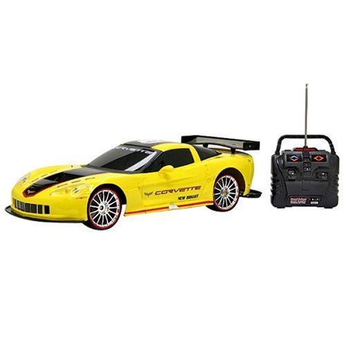 Buy New Bright 1:10 9.6-volt R/C Corvette- Yellow