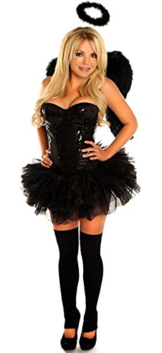 Daisy Corsets 4 PC Sexy Sequin Dark Angel Women's Costume
