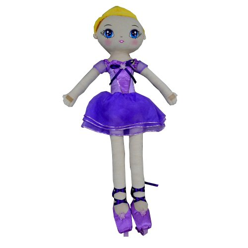 You & Me 35 Inch Dance Wiith Me Ballerina Rag Doll - Purple front-883924