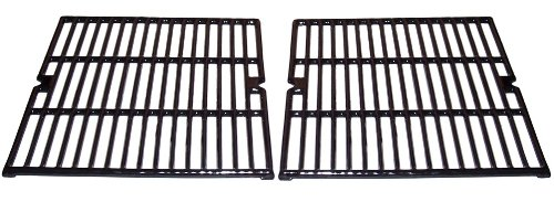 Music City Metals 63922 Gloss Cast Iron Cooking Grid Replacement for Select Kenmore and Uniflame Gas Grill Models, Set of 2