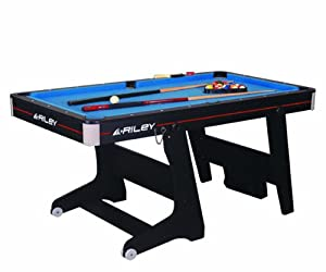 Riley 5 Ft Folding Domestic Pool Table - Black