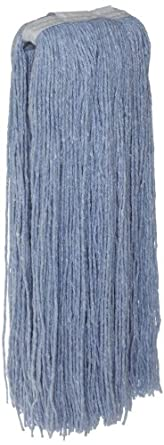 Zephyr Blendup Blue Blended Natural and Synthetic Fibers Cut End Wet Mop Head (Pack of 12)