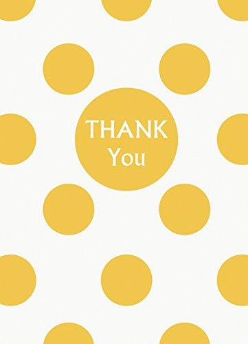Yellow Polka Dot Thank You Notes, 8ct