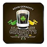 Personalized Irish Pub Coaster Set