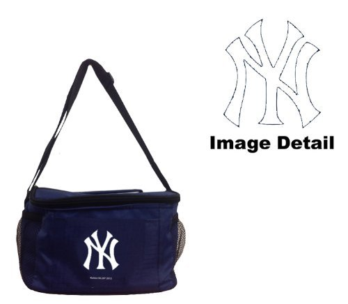 New York Yankees MLB Team Logo 6-Sports Drink Beer Water Soda Beverage Can Insulated Picnic Outdoor Party Beach BBQ Kooler Cooler Lunch Bag Tote - 6-Pack Bag