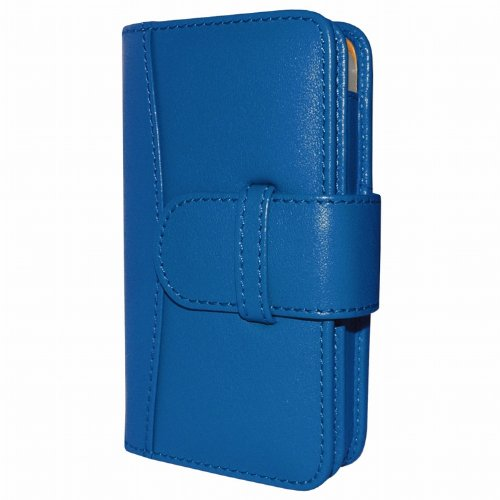 Best Price Apple iPhone 5 / 5S Piel Frama Blue Leather Wallet