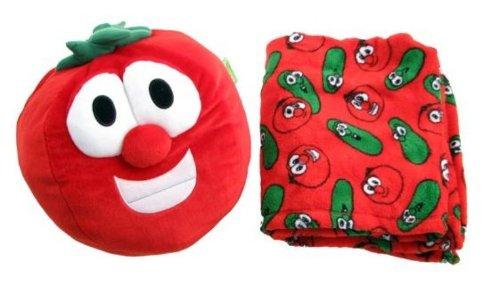 Imagen de Veggie Tales Bob el Tomate Zoobies juguete de la felpa, almohadilla suave y Blanket Cozy