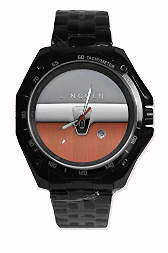 New Lincoln Luxury Cars Logo Sport Watch Stainless Steel Black Alloy