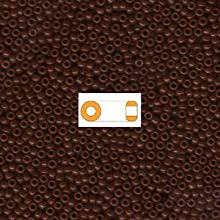 1 X Chocolate Brown Opaque Miyuki Japanese round rocailles glass seed beads 110 Approximately 24 gra