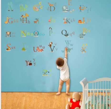 Home Decor Decals Poster House Wall Stickers Quotes Removable Vinyl Large Wall Sticker For Kids Rooms A B C D Letters W-81 front-756668