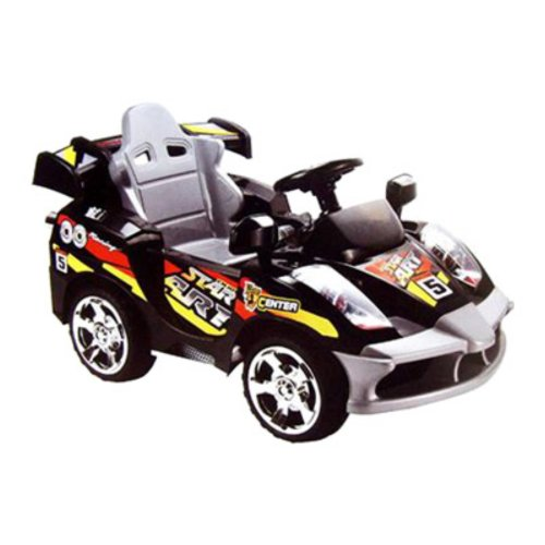 Mini Motos Black 6 Volt Battery Operated Remote Controlled Star Car Riding Toy