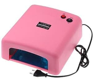 Rose Lampe UV 36W 220-240V gel nail art (EU Plug) avec 4pcs 365nm ampoule UV