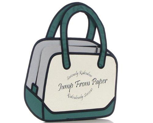 JP0837 アニメから飛び出したような 面白い 二次元 イラスト バッグ (タイプD)