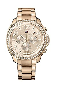 Tommy Hilfiger Serena Women's Quartz Watch with Rose Gold Dial Analogue Display and Rose Gold Stainless Steel Rose Gold Plated Bracelet 1781466