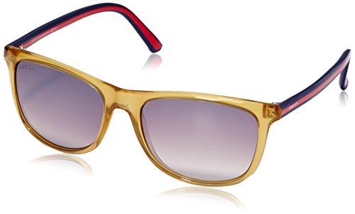 Gucci GG1055/S Sunglasses-00VW Ochre (NQ Brown Mirror Gradient Lens)-55mm