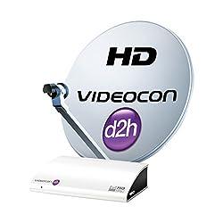 Videocon D2H HD Digital Set Top Box with 1 month Platinum HD Pack