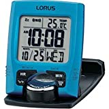 Lorus LHL031L Digital LCD Clock, Blue