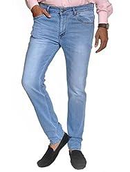 Scorzio Men's Regular Fit Jeans (SZ0006_3_Light Blue_34)