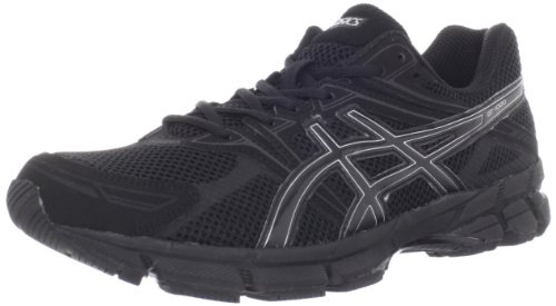 mens black asics running shoes