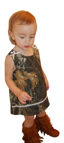 Mossy Oak Camo Dress Infant Baby Toddler Girls Camouflage Jumper Dress & Panty 6M-4T (18M, Mossy Oak)