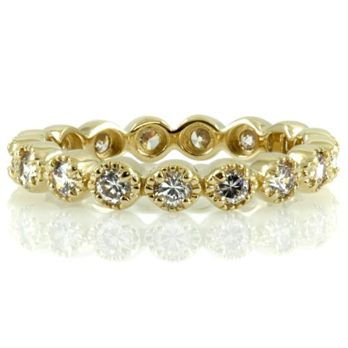 Erica's Vintage Rings - CZ Eternity Band - Gold - Final Sale