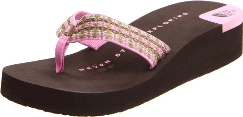 The North Face Women'S Wohelo Wedge Flip Flop,Silver Mink Brown/Begonia Pink,9 M Us